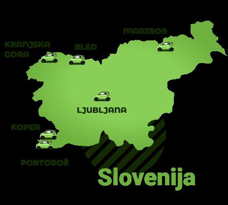 slovenija karta